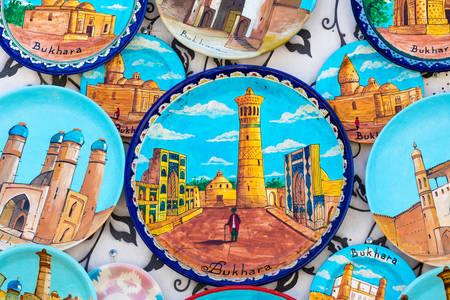 Handmade souvenir plates