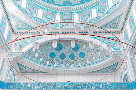 Ceiling of the mosque Nur Astana