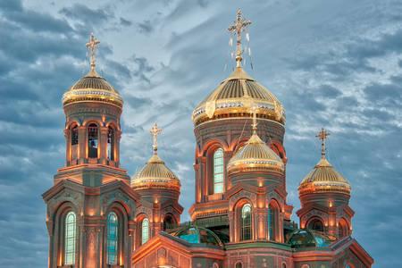 Kopuły Głównego Kościoła Sił Zbrojnych Federacji Rosyjskiej