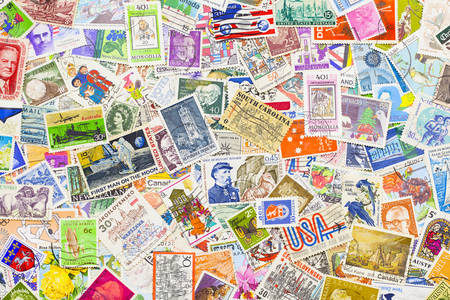 Stamps of different countries