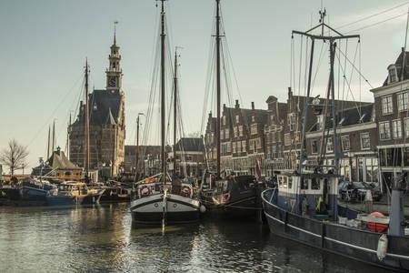 Puerto en la ciudad de Hoorn