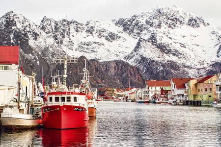 Winter op de Lofoten eilanden