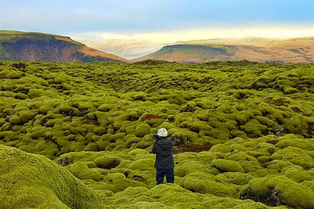 Landscapes of Eldhrun in Iceland