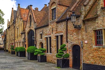 Eski Bruges sokakta