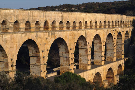Apeductul roman antic Pont du Gard