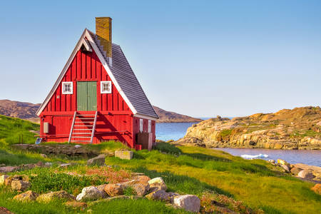 Häuser im Süden Grönlands