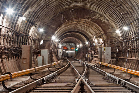 Metro tunnel in Kiev
