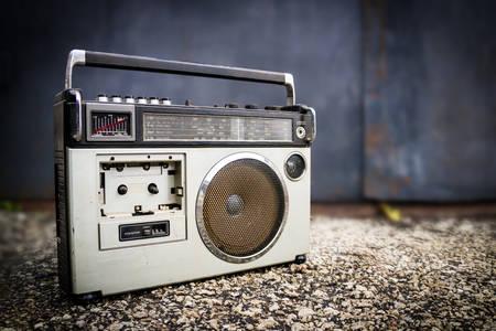 Grabadora de cinta vieja