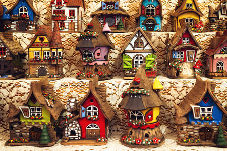 New Year's ceramic houses
