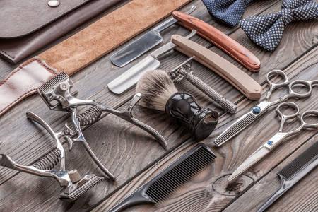 Outils de coiffure vintage
