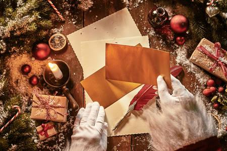 Santa Claus writes letters