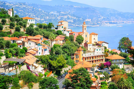 Mediterranean coast on the French Riviera