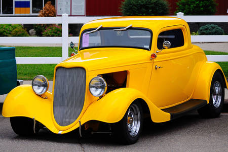 Yellow vintage car