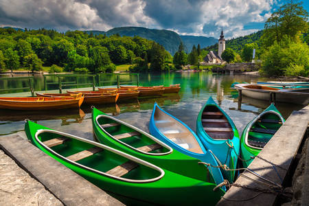 Bohinj lake boats