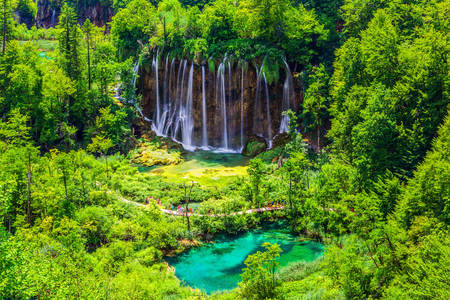 Waterfalls in Plitvice Lakes Park