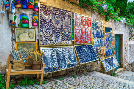 Street souvenir market in Rovinj
