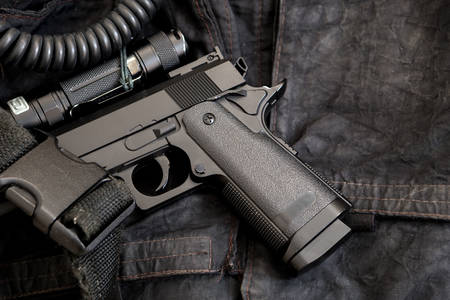 Pistol and tactical flashlight