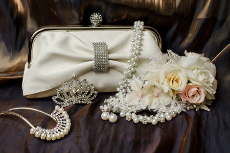 Clutch bag and bridal accessories