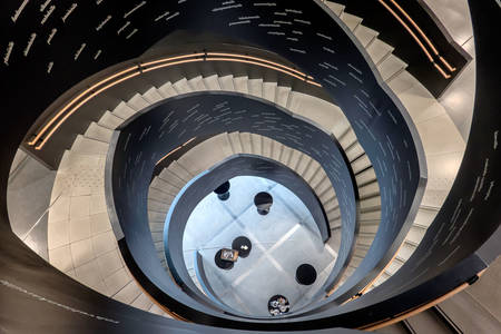 Spiral staircase in Helsinki Central Library