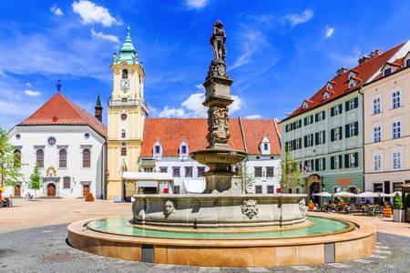 Hoofdplein in Bratislava
