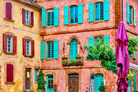 Colorful facades in Roussillon