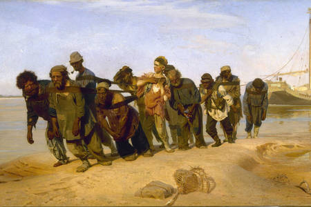 "Ilya Efimovich Repin: ""Lastkahntransporter an der Wolga"""