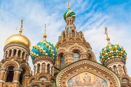 Domes of the Church of the Savior on Spilled Blood