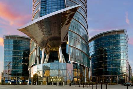 Modern buildings - Warsaw spire
