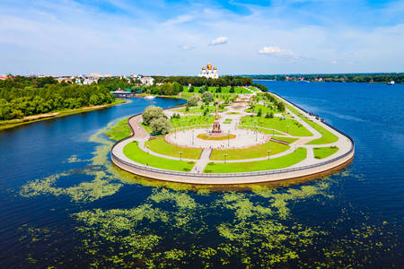 Park on Strelka em Yaroslavl