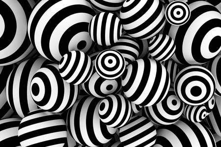 3D abstraction: black and white balls