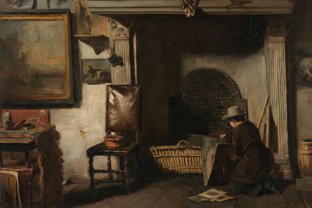 """Anton Mauve: """"O estúdio do pintor de Haarlem, Pieter Frederik van Os"""""""