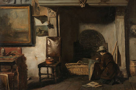 "Anton Mauve: ""Studio slikara Haarlem Pieter Frederik van Os"""