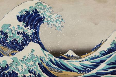 """Kacušika Hokusai: """"Veľká vlna pri Kanagawe"""""""