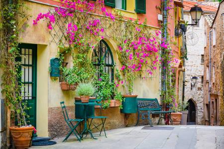Stradă frumoasă a unui sat francez