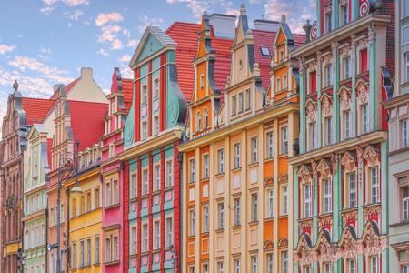 Casas na Praça do Mercado de Wroclaw