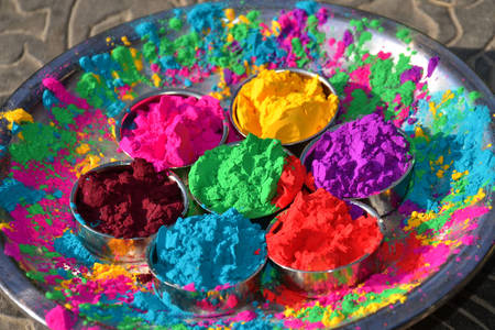 Holi colorful paints