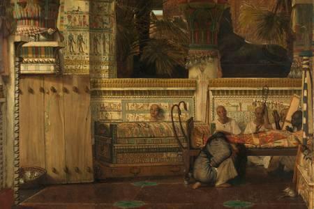 "Lawrence Alma-Tadema: ""Viúva Egípcia"""