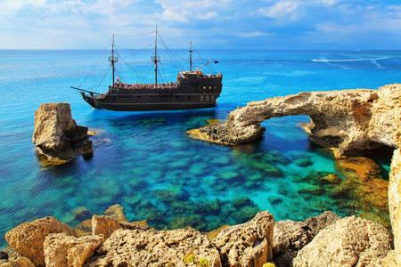Ship at the Bridge of Lovers in Ayia Napa