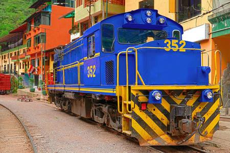 Locomotora en la ciudad