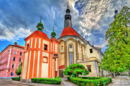 Cathedral of St. Nicholas in Ceske Budejovice