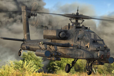 Vojni helikopter u letu