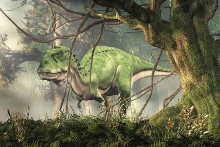 Majungasaurus u džungli