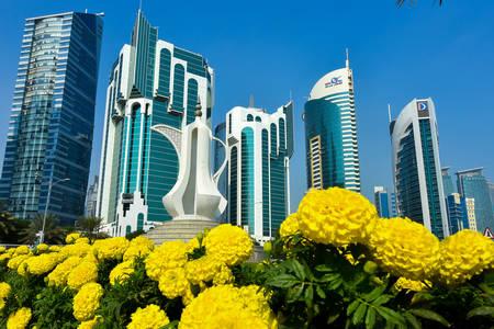 Небоскребы в городе Доха