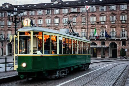 Antiguo tranvía en Turín