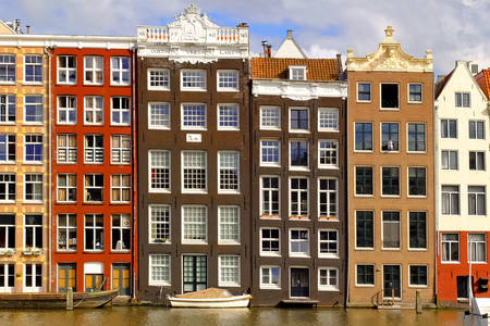Facades of buildings in Amsterdam
