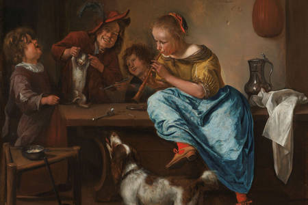 "Jan Steen: ""Lekcija plesa"""