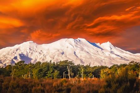 Красива гора Руапеху