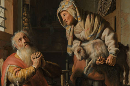 "Rembrandt Harmenszoon Van Rijn: ""Tobit Accusing Anna of Stealing the Kid"""
