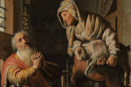 """Рембрандт Харменс Ван Рейн: """"Товит, підозрюючи дружину в крадіжці"""""""