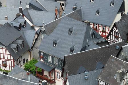 Slate roofs in Beilstein